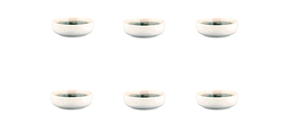 Bol OXYGEN Ø9cm - 6 pièces - Vert de gris
