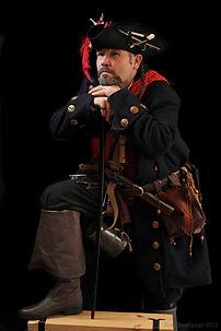 Dave Olivr in Tricorn Shonke (pirate) costume - Rattlebox Theatre