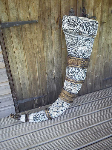 Norse Giants drinking horn - Rattlebox Theatre