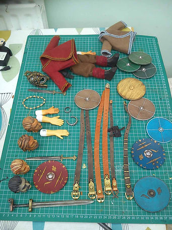 Props and costumes for Beowulf puppet show - Rattlebox Theatre