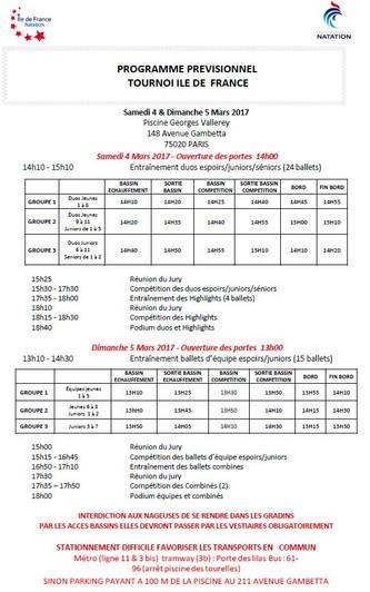 Competition Jeunes et Juniors 4 & 5 mars
