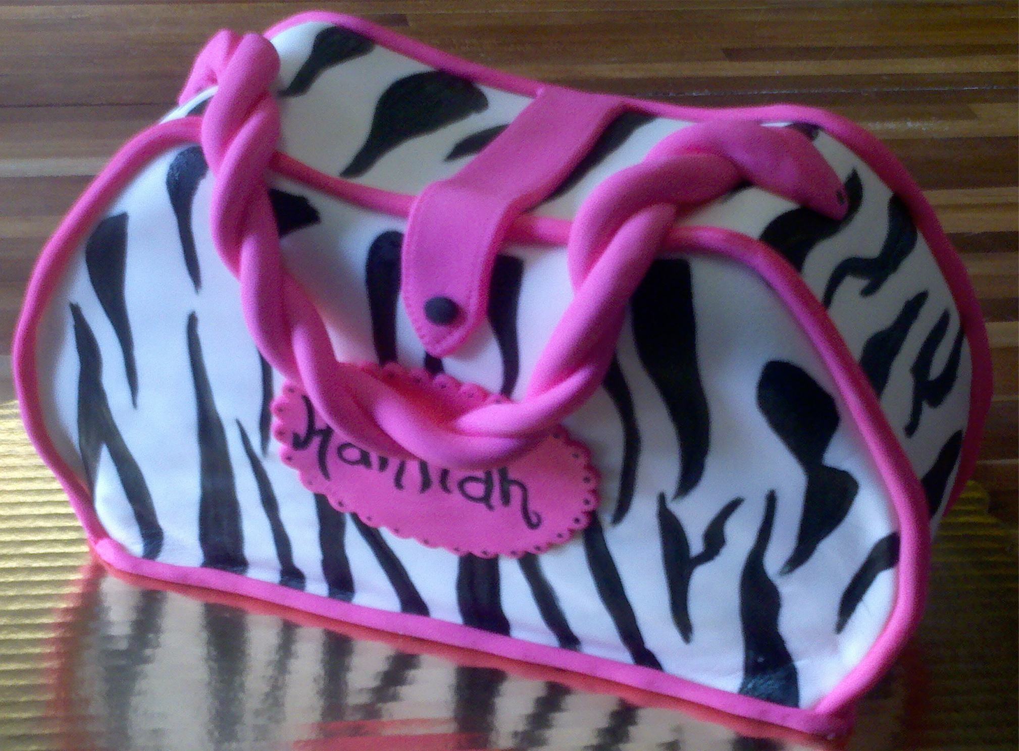 Pink Zebra Purse