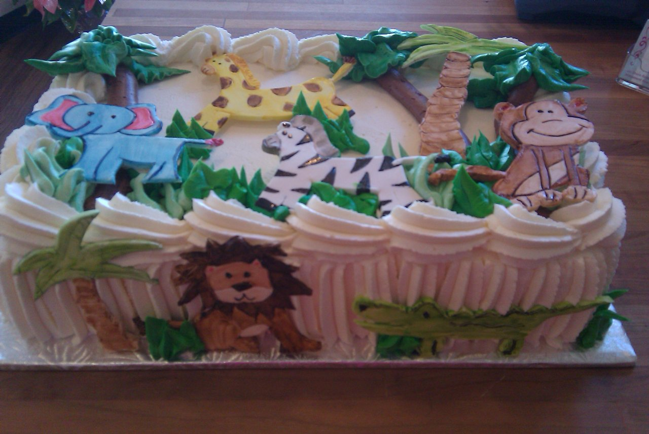 Jungle Theme fondant cut outs