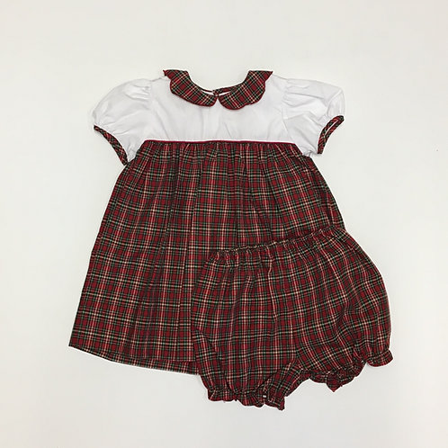 Petit Ami Christmas Plaid Dress