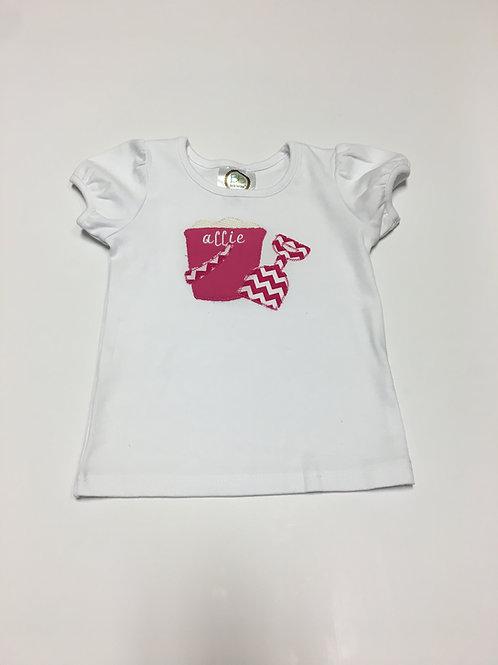 Girls Pink Pail and Shovel Shirt