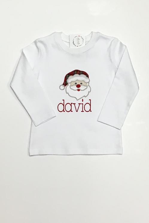Boys Santa Applique Shirt
