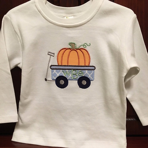 Pumpkin Applique on Boys Tshirt