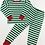 Thumbnail: Green & White Striped Two-Piece Pajama