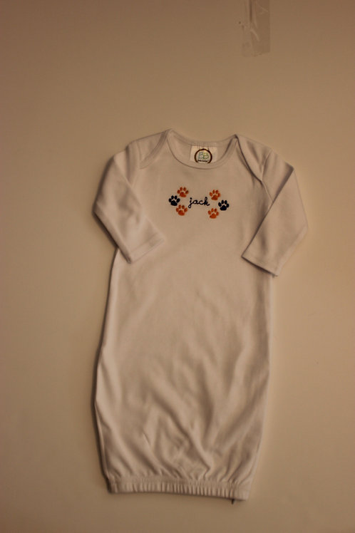 Paw Print Embroidery Layette