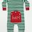 Thumbnail: Green & White Striped Christmas Pajama