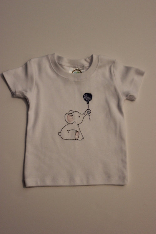 Baby Elephant Embroidery T-shirt
