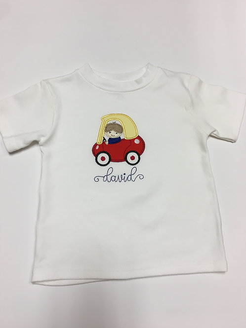 Cozy Coupe Applique Shirt