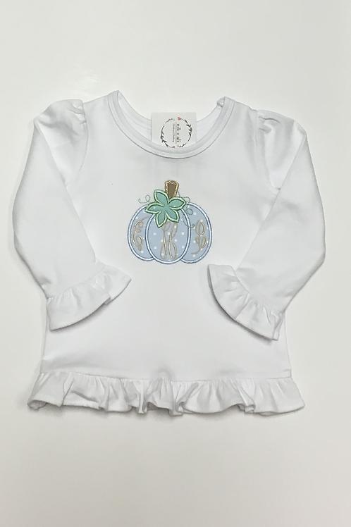 Girls Pastel Pumpkin Initials Shirt