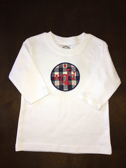 Long Sleeve tshirt with 'Circle Applique'