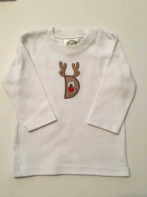 Letter Reindeer Shirt