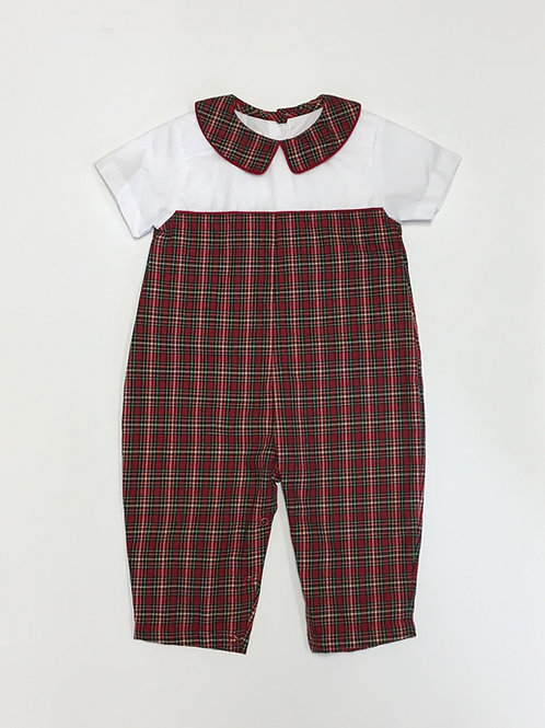 Petit Ami Christmas Plaid Longall