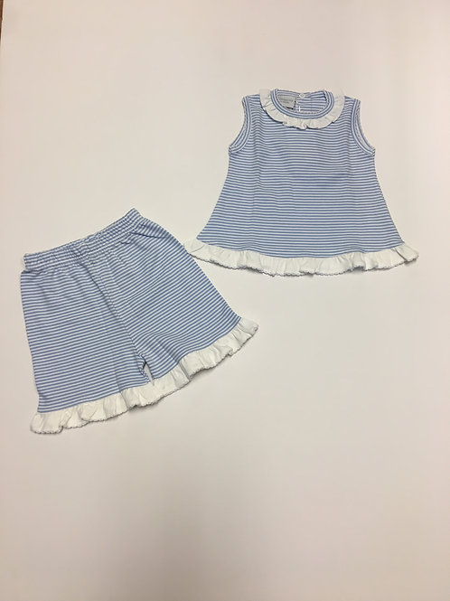 Squiggles Blue & White Stripe Two-Piece