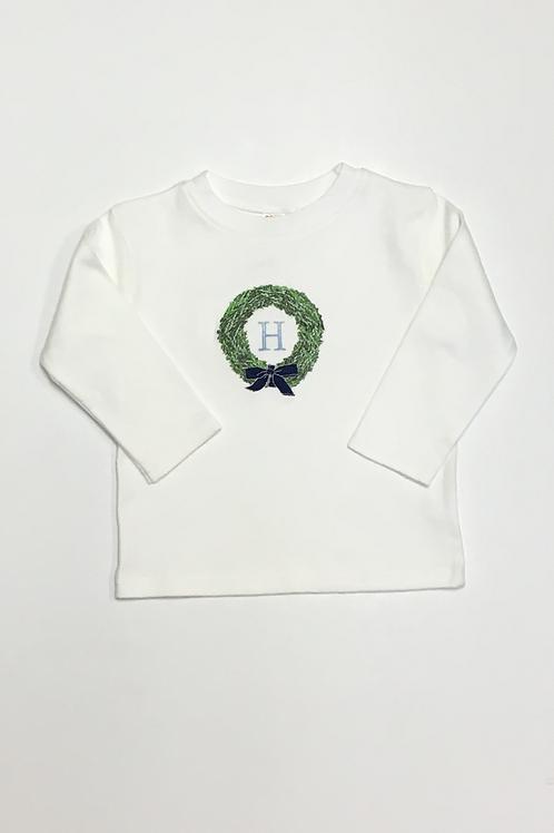 Wreath Initial Shirt