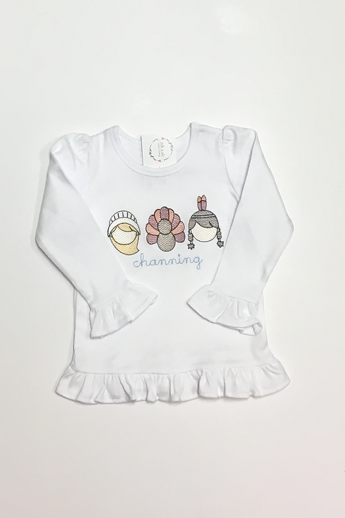 Girls Thanksgiving Trio Shirt