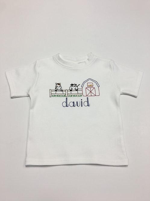 Farm Embroidery Shirt