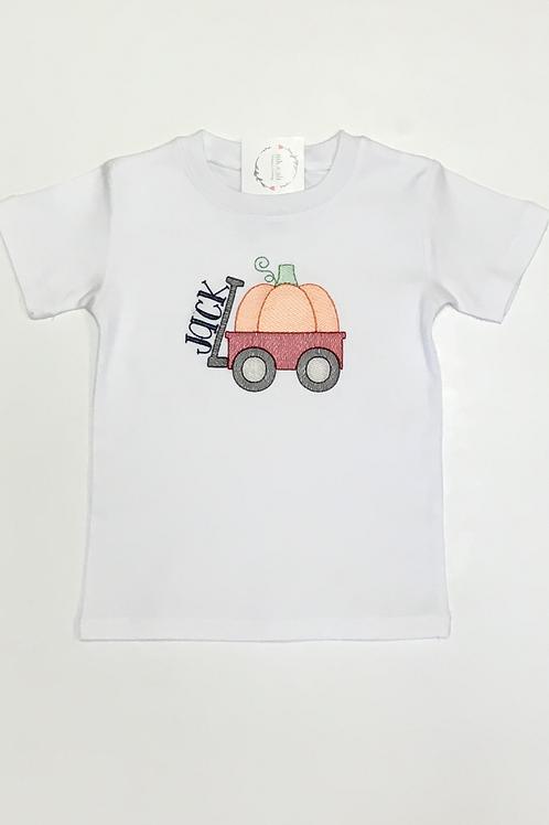 Wagon and Pumpkin