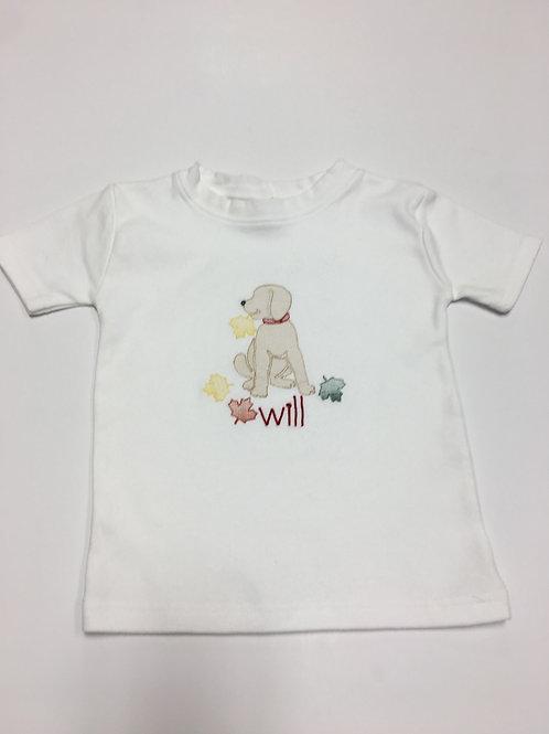 Boy's Fall Dog Shirt