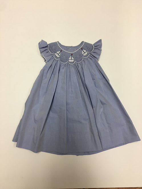 Petit Ami Smocked Sailboat Dress