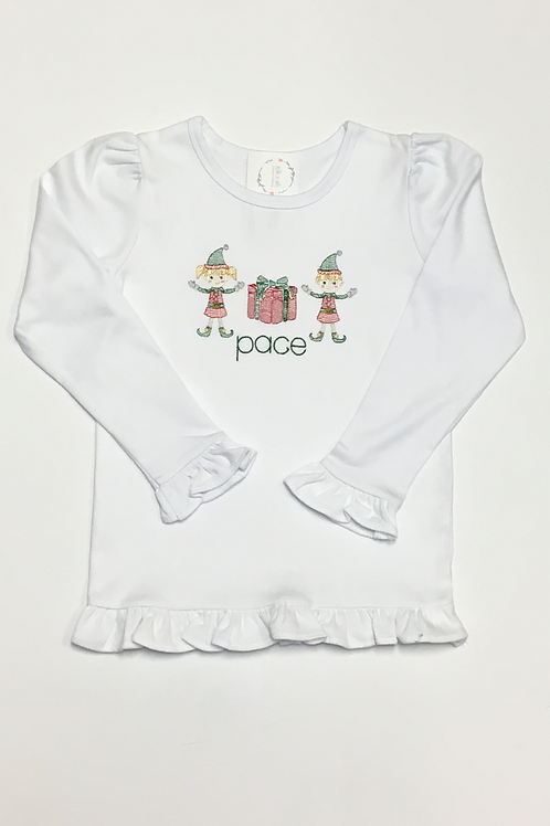 Girls Christmas Elf Shirt