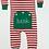 Thumbnail: Red & White Striped Christmas Pajama