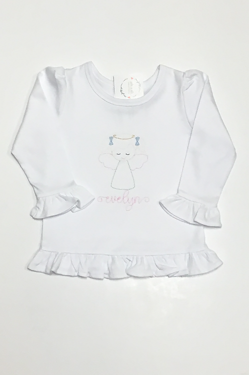 Girls Quick Stitch Angel Shirt