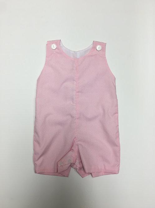 Pink Microcheck Romper