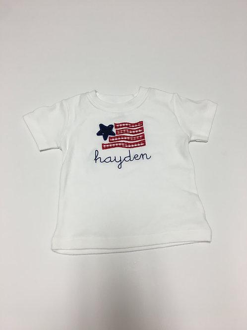Flag Applique Shirt
