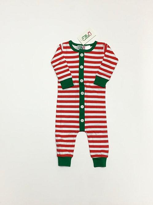 Red & White Striped Christmas Pajama