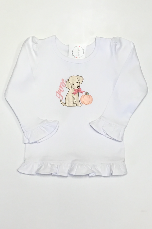 Girls Puppy Pumpkin