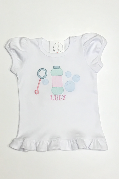 Girls Bubbles Embroidery Shirt
