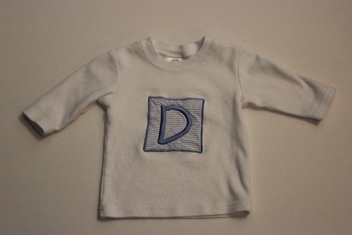 Long sleeve tshirt with 'Initial' Applique