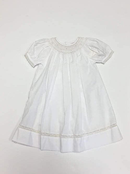 White Dress with Ecru Lace
