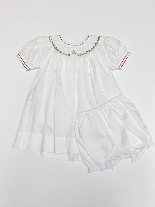 Petit Ami White Christmas Dress
