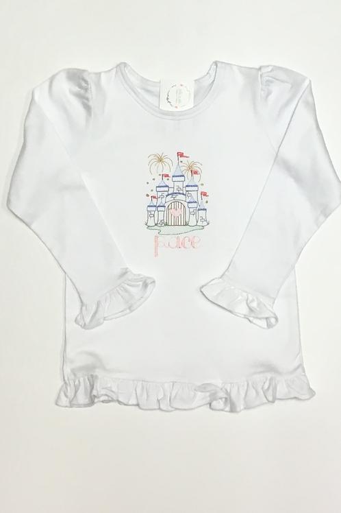 Girls Heart Castle Fireworks Shirt