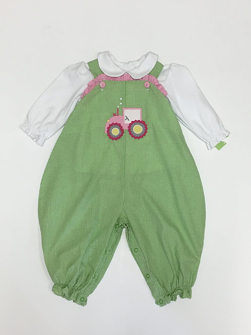Tractor Romper with Ruffle