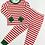 Thumbnail: Red & White Striped Two-Piece Pajama