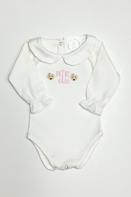 Girls Mini Puppy Monogram