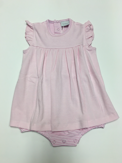 Squiggles Pink Romper with Apron Front