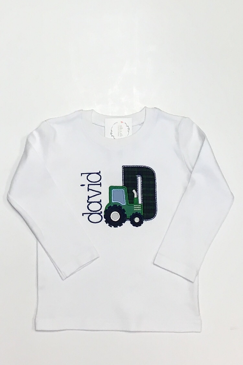 Letter/Number Tractor Shirt