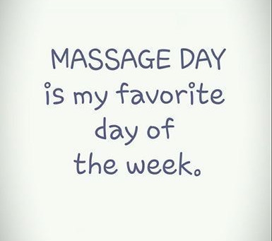 Massage makes everything better.  Even if just for a little bit.