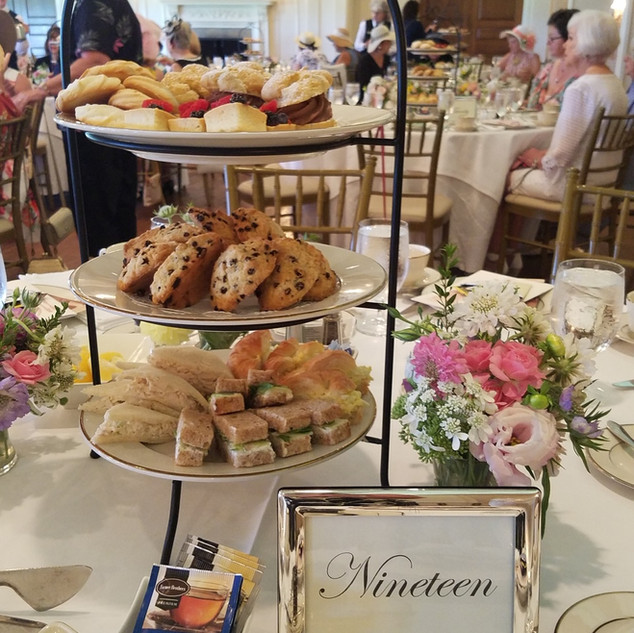 Treats at the VictorianTea Party at Oakmont Country Club