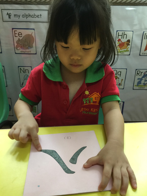Tracing Chinese Character