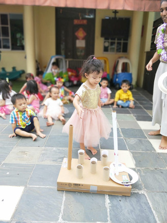 Children's Day Party Game: Ring Toss
