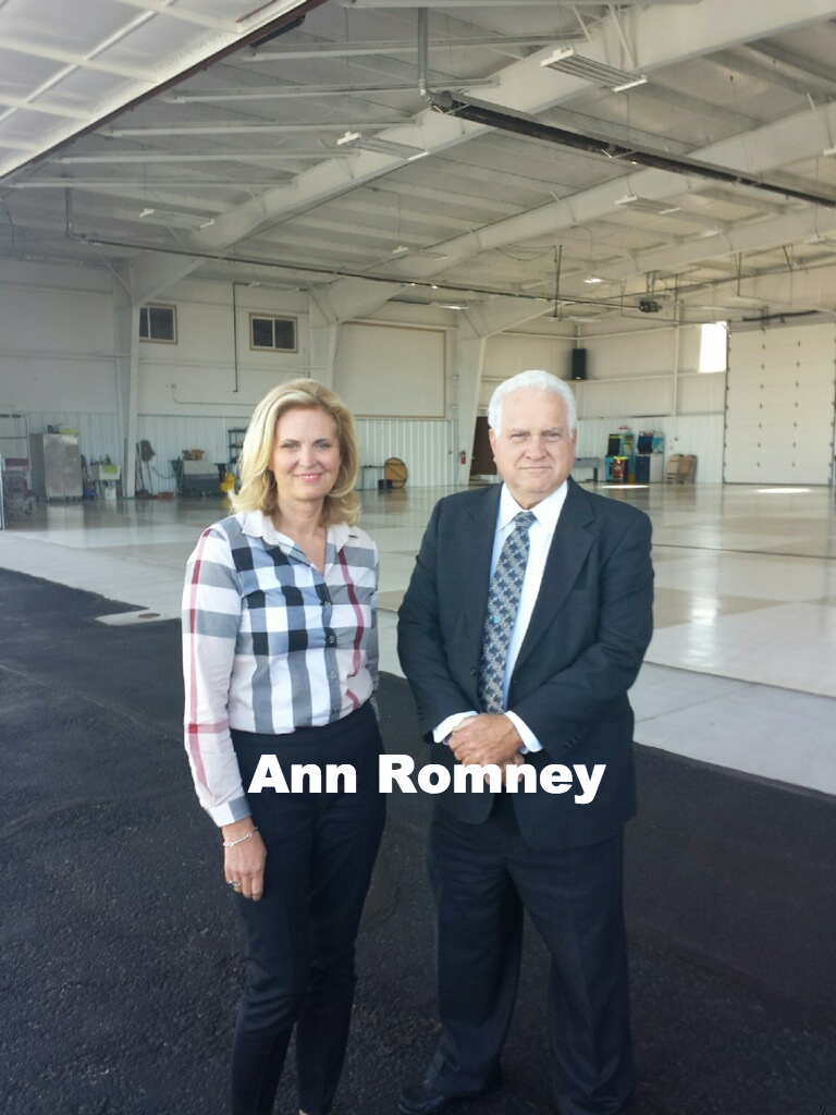 Ann Romney with driver Brent Johnson_edi