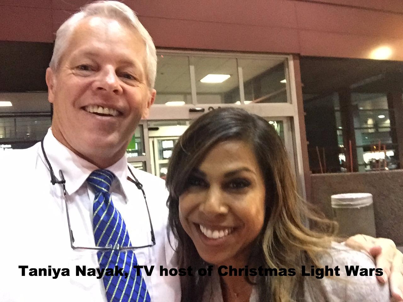 Taniya Nayak host of Christmas Light War